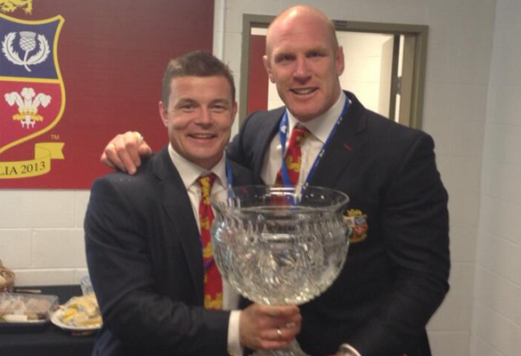 Brian O'Driscoll and Paul O'Connell hold the Tom Richards Cup after the Lions first series win over Australia since 1989. (Pic: Brian O'Driscoll/Twitter)