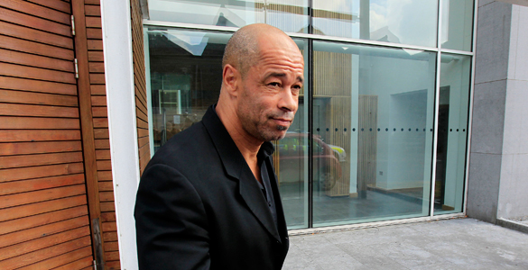 Former Republic of Ireland footballer Paul McGrath leaves Tullamore District Court after being ordered to coach a local football team