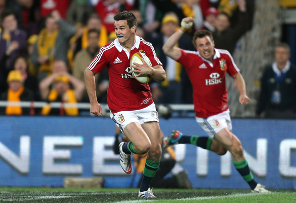 Jonathan Sexton claims a try in the Lions series-winning victory over the Wallabies in Sydney. (Pic: PA)