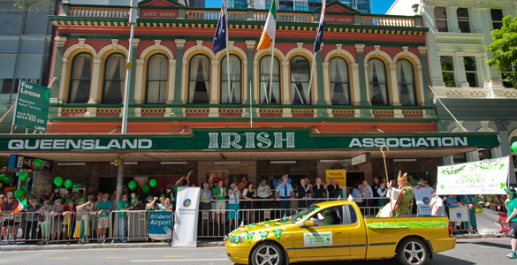 The Queensland Irish Association. (Photo: Mark Greenmantle/Irish Echo)