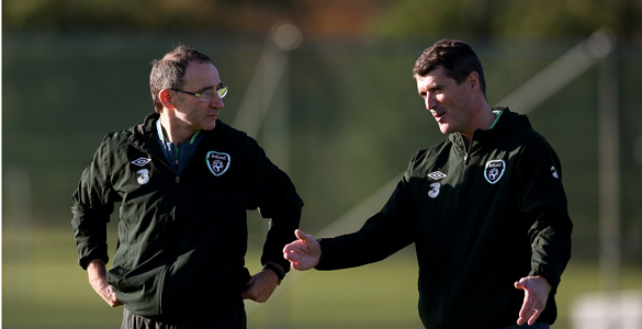 Martin-O'Neill-and-Roy-Keane's-first-Irish-training-session
