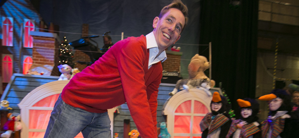 Ryan Tubridy presents the Late Late Toy Show on RTE.