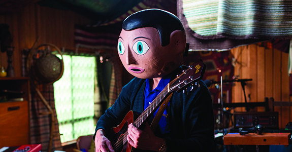 Michael Fassbender in Lenny Abrahamson's Frank, one of three Irish features at this year's Sydney Film Festival.