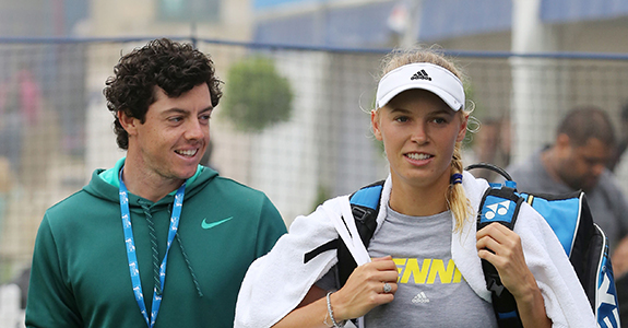 Rory McIlroy and Caroline Wozniacki pictured last June in London.