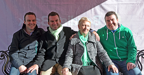 Dermot O'Toole's sons and widow