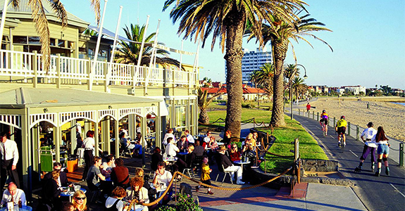 The Melbourne beachside suburb of St Kilda has a high concentration of Irish nationals