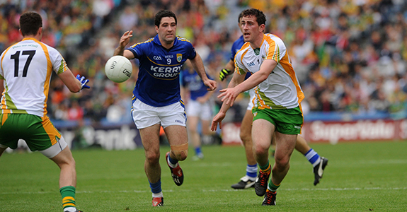 Action from the 2012 All Ireland quarter final, the last time Kerry and Donegal met in The Championship.