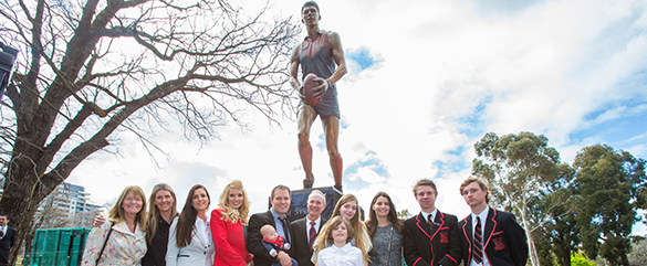 Standing tall: Irish great joins AFL's biggest names along Avenue of Legends