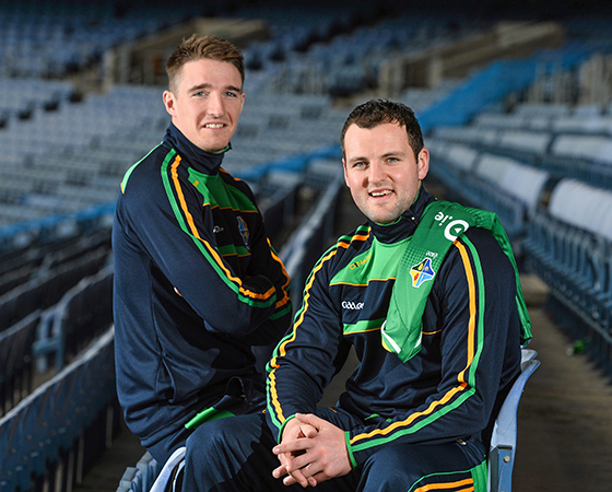 Ireland captain Michael Murphy, right, and vice-captain Aidan Walsh at Croke Park last week.
