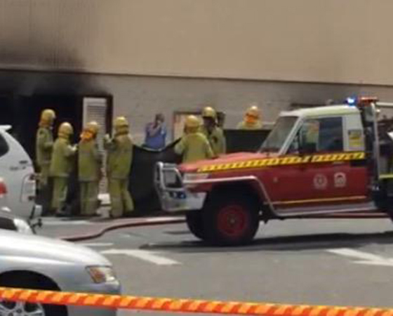 The scene at Morley's Galleria shopping centre where an explosion claimed a man's life today.