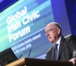 Ireland's Minister for Foreign Affairs addresses the recent Global Irish Civic Forum.