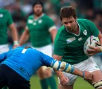 Ireland's Iain Henderson in action during the World Cup match at the Olympic Stadium, London.