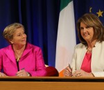 Minister for Justice and Equality Francis Fitzgerald and Tanaiste Joan Burton.
