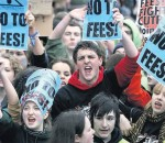 studetns protest tuition fees