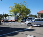 The scene of the fatality in Katoomba, west of Sydney.
