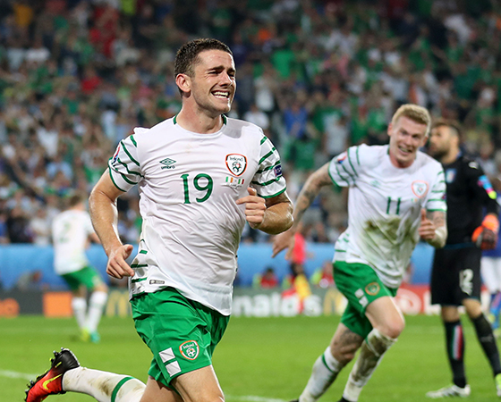Republic of Ireland's Robbie Brady celebrates